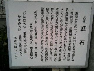 大熊の蛙石・08/09/18筆者撮影