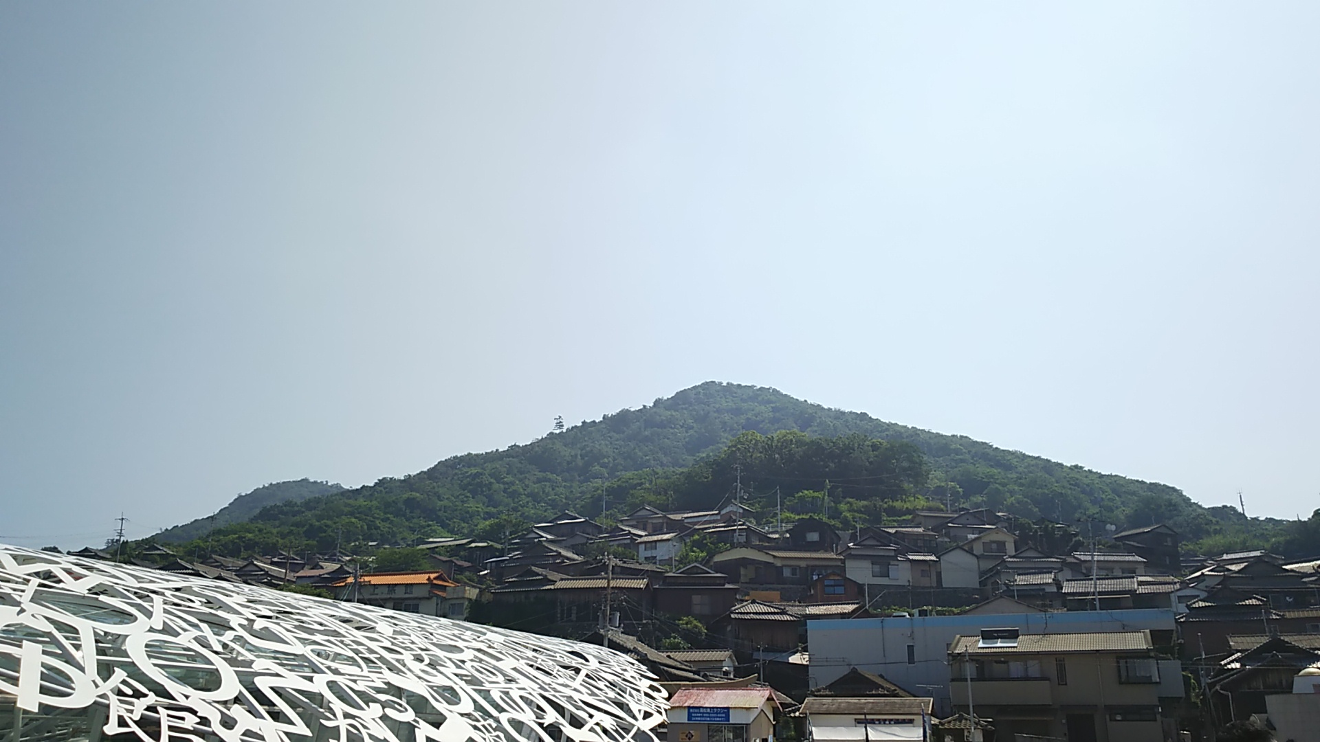 男木島の全景