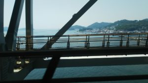 瀬戸大橋から望む瀬戸内海と島々