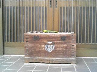 河童寺に供えられたキュウリ
