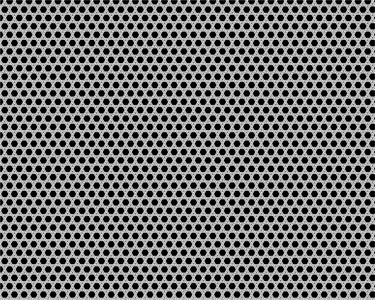 籠目の図案の例(和柄商用フリー素材【wagara pattern】(https://japanese-pattern.info/)より)