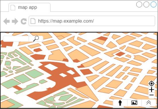 図2: Ajax技術を使った地図アプリのイメージ
