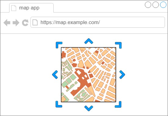 図1: Ajax登場以前の地図アプリのイメージ