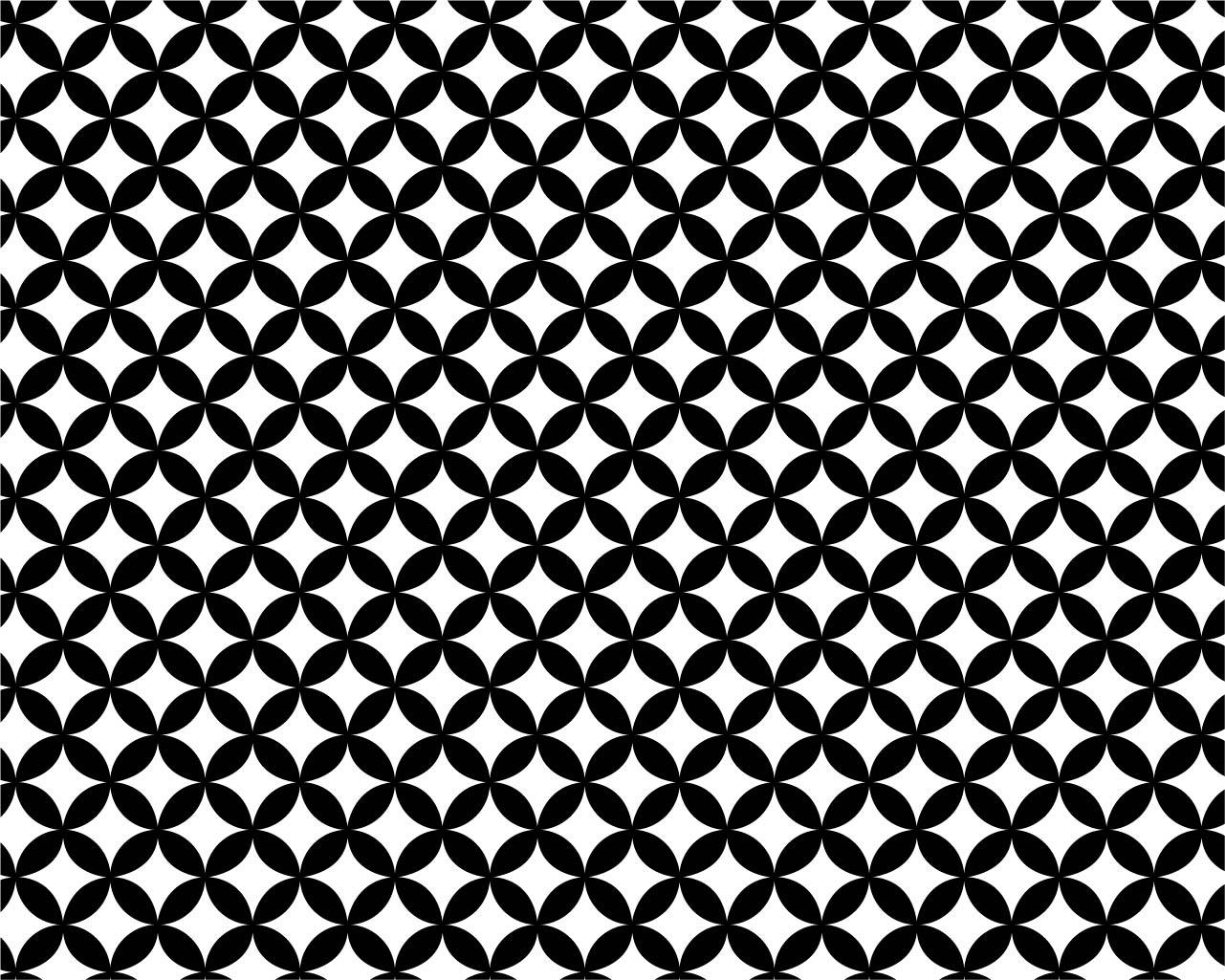 七宝文の例(和柄商用フリー素材【wagara pattern】(https://japanese-pattern.info/)より)