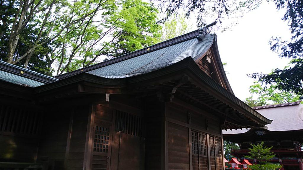 高椅神社 拝殿を後ろから