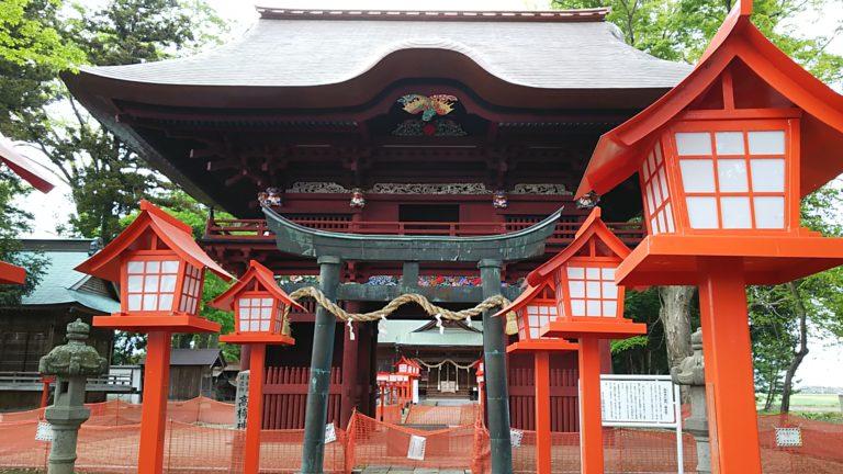 高椅神社 楼門と鳥居
