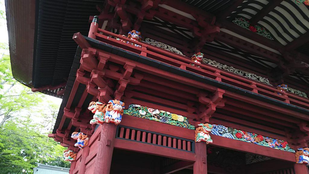 高椅神社 楼門装飾
