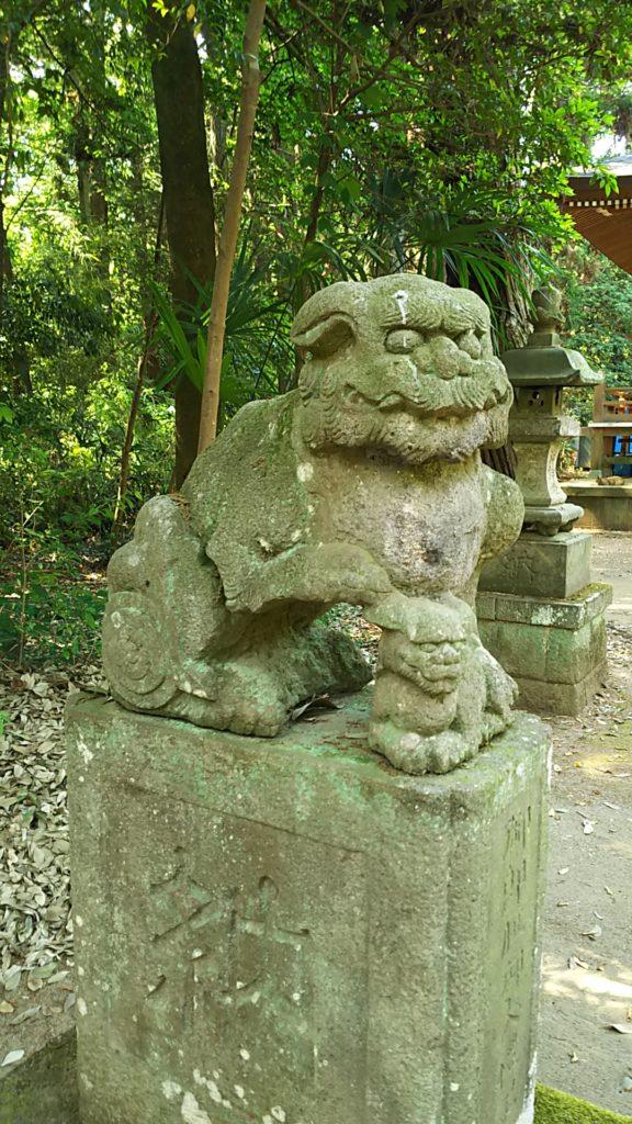 根渡神社 狛犬吽形