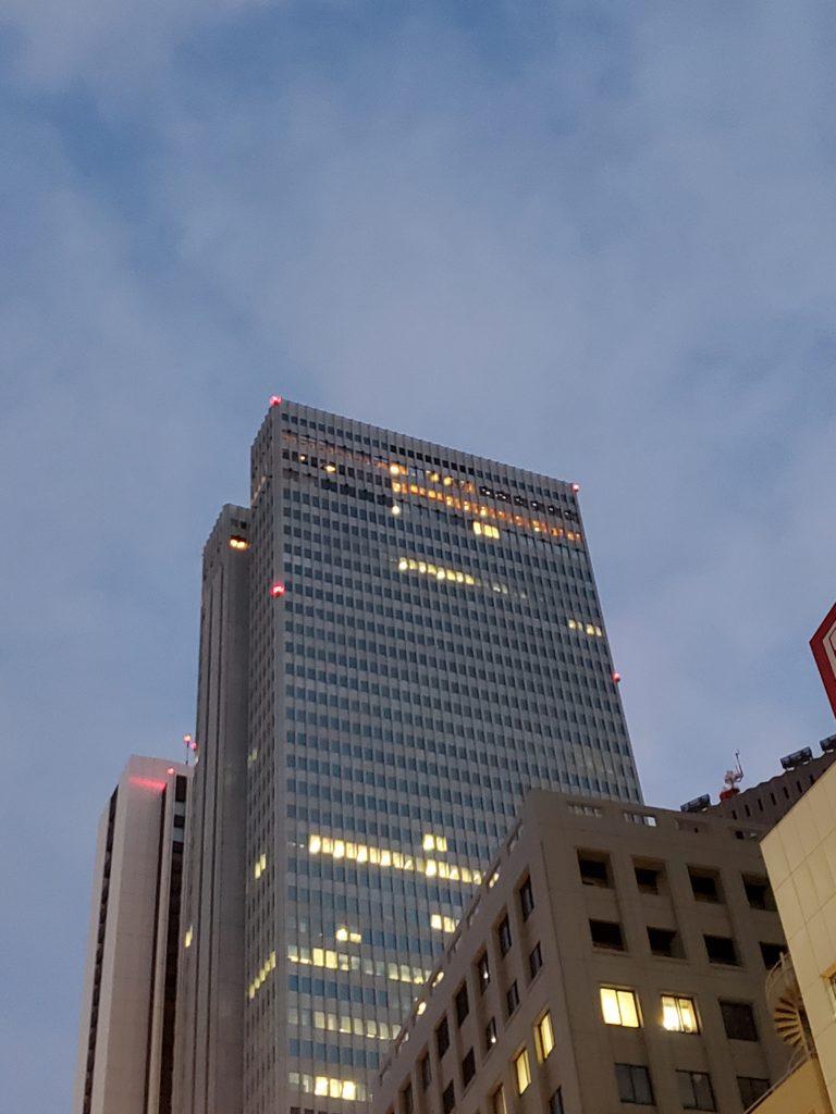 新宿の航空障害灯